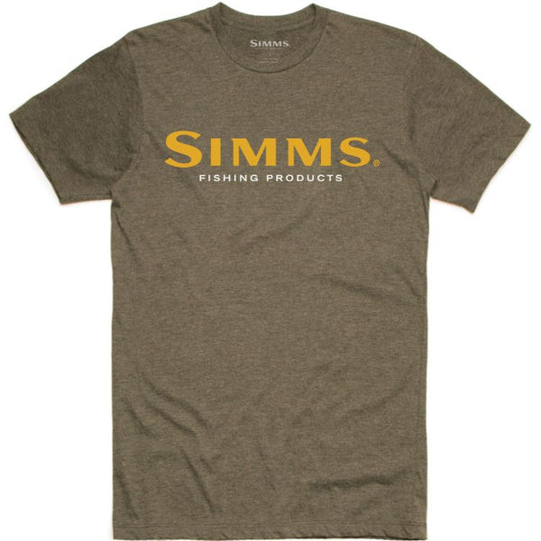 Simms Logo T-Shirt - Olive Heather