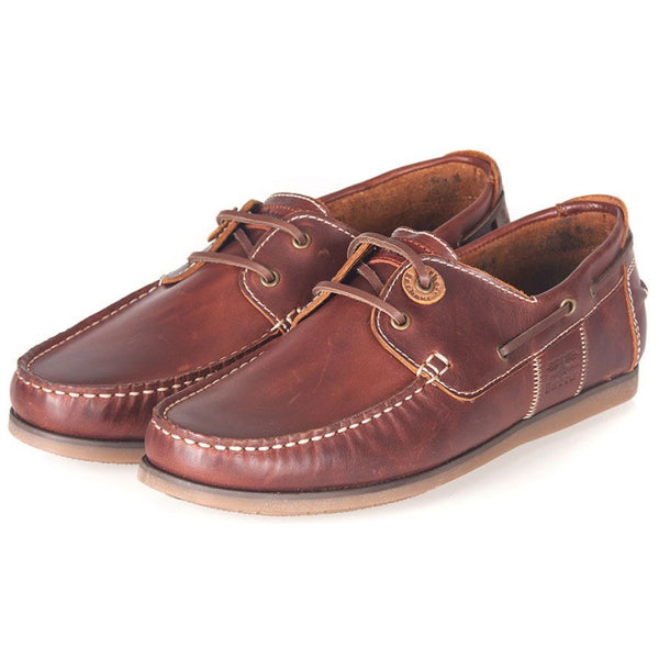 Barbour Capstan Boat Shoes - Mahogany Leather