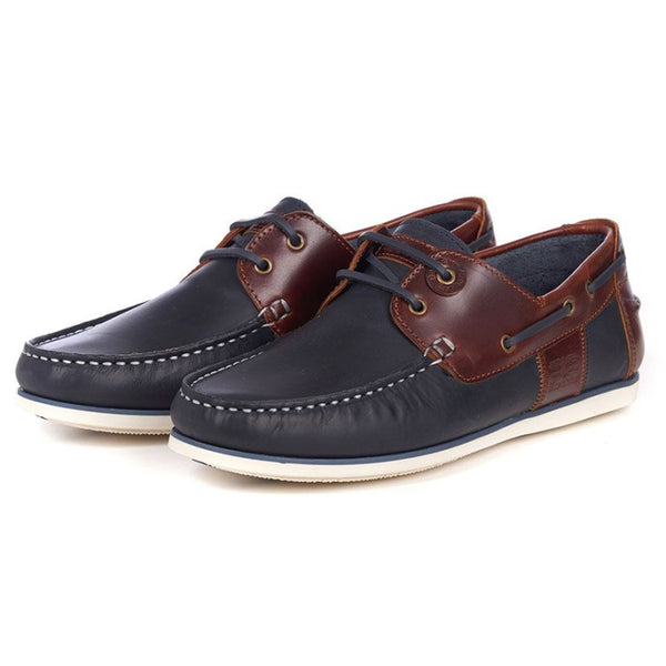 Barbour Capstan Boat Shoes - Navy/Brown