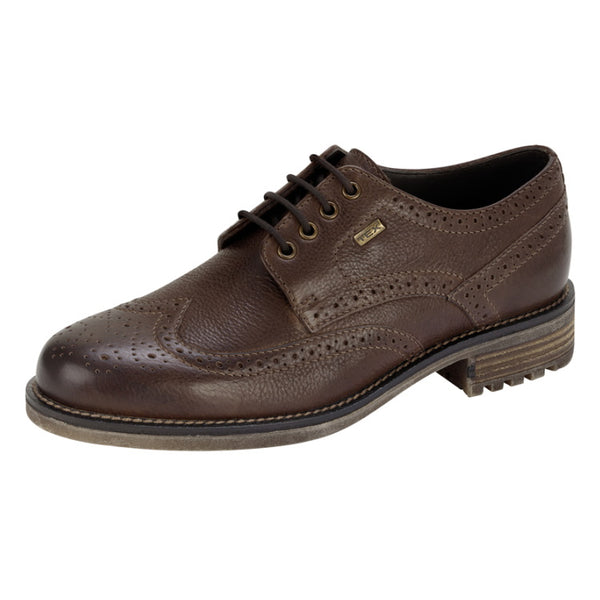 Hoggs of Fife Connel Waterproof Brogue Shoes - Antique Brown