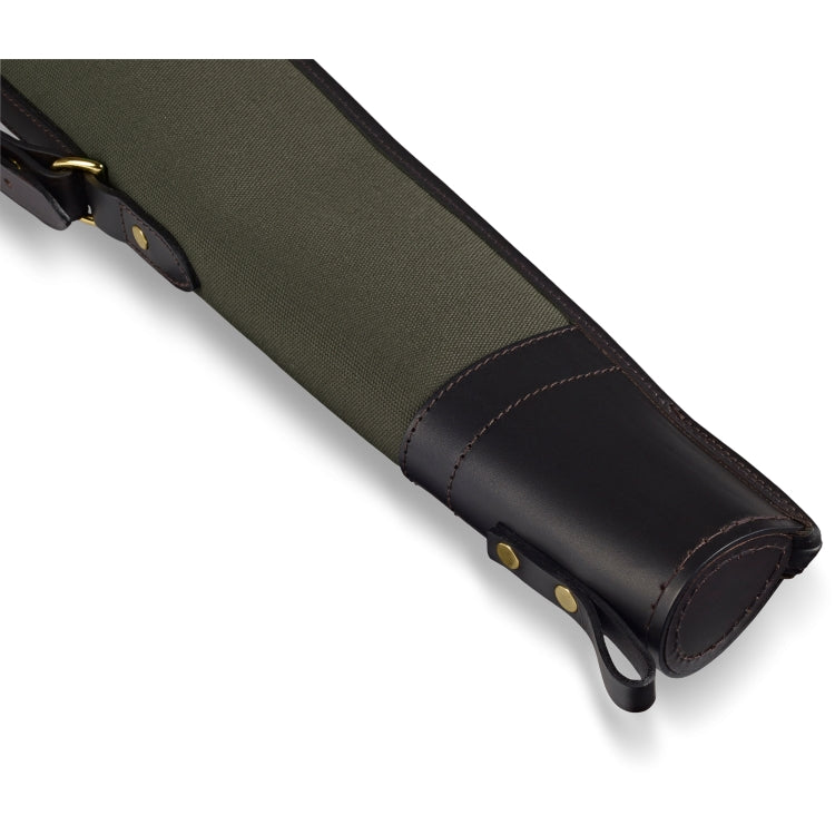 Croots Rosedale Shotgun Slip with Zip - Loden Green/Dark Leather