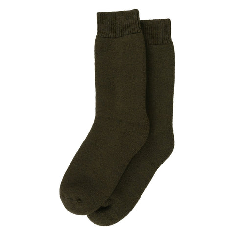 Barbour Wellington Calf Socks - Olive Green