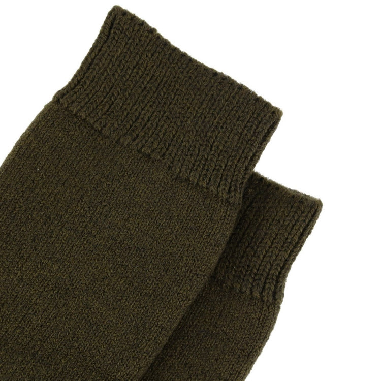 Barbour Wellington Knee Socks - Olive Green