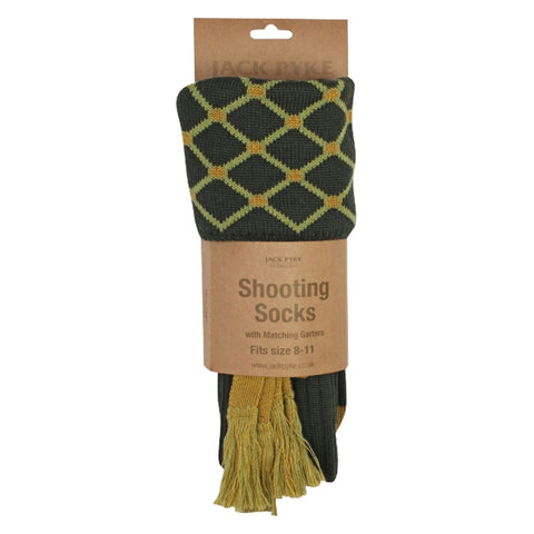 Jack Pyke Diamond Socks - Green/Gold/Sage