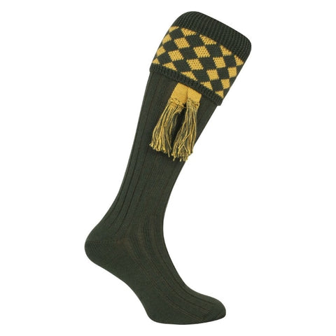 Jack Pyke Harlequin Socks - Green/Gold