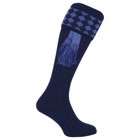 Jack Pyke Harlequin Socks - Navy/Light Blue