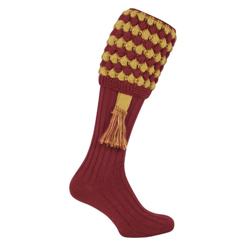 Jack Pyke Pebble Shooting Socks - Burgundy/Gold