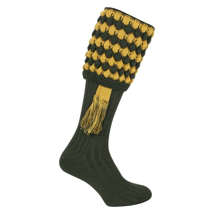 Jack Pyke Pebble Socks - Green/Gold