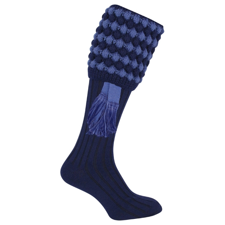 Jack Pyke Pebble Shooting Socks - Navy/Light Blue