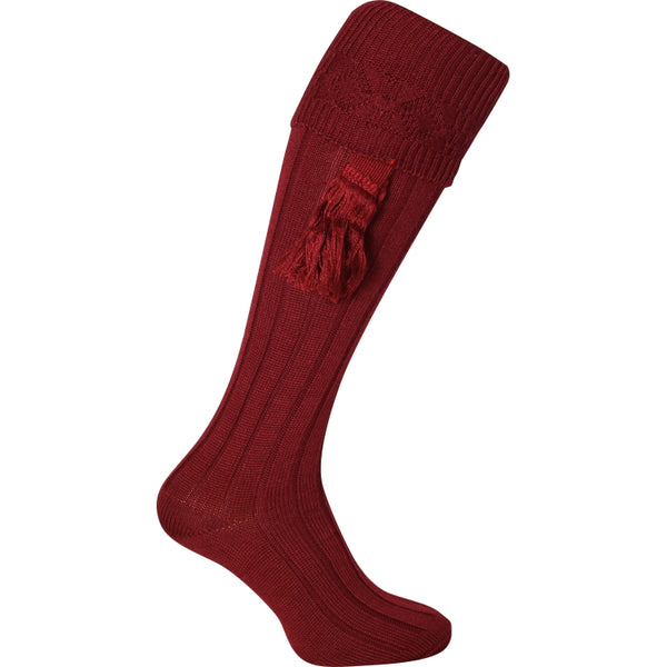 Jack Pyke Plain Shooting Socks - Burgundy