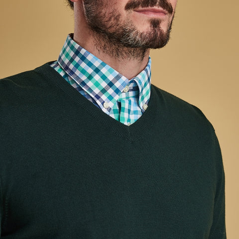 Barbour Alfreton V Neck Sweater - Green