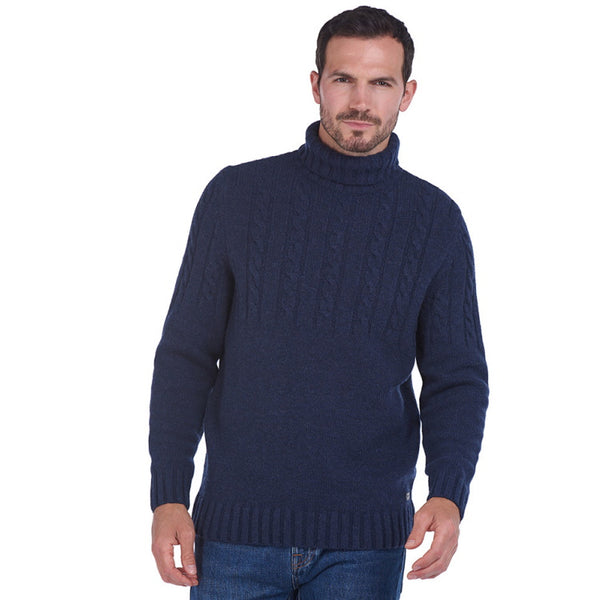 Barbour Duffle Cable Crew Sweater - Dark Denim