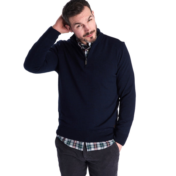 Barbour Gamlan Half Zip Sweater - Navy