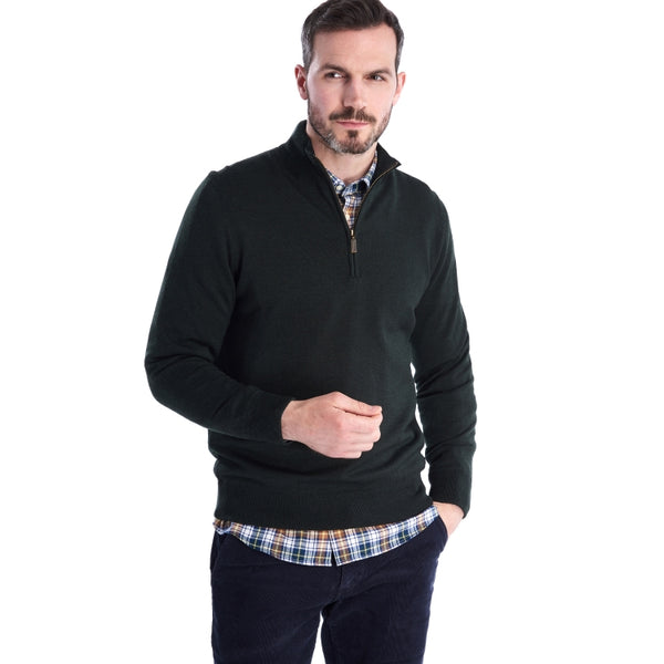 Barbour Gamlan Half Zip Sweater - Olive