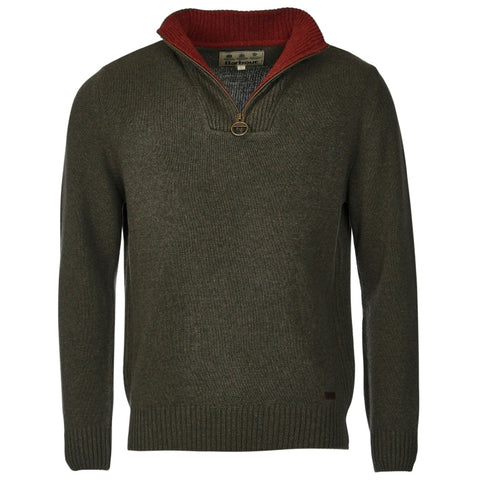 Barbour Nelson Essential Half Zip Sweater - Seaweed