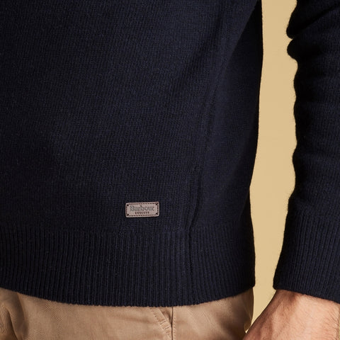 Barbour Nelson Essential V Neck Sweater - Navy