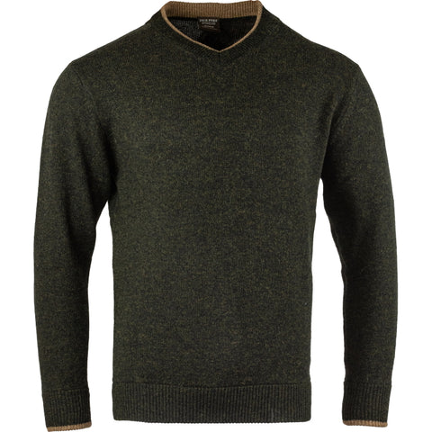 Jack Pyke Ashcombe V Neck 100% Lambswool Sweater - Dark Olive