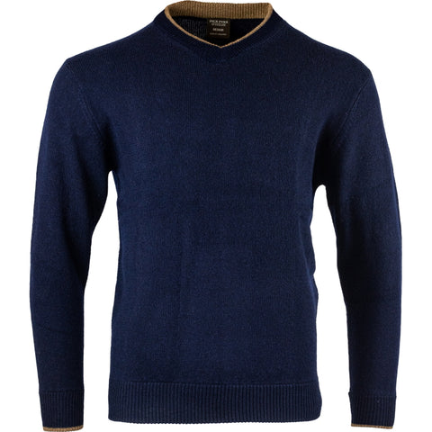 Jack Pyke Ashcombe V Neck 100% Lambswool Sweater - Navy