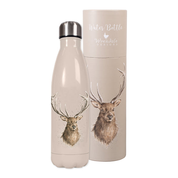 Wrendale Metal Water Bottle - Stag