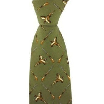 John Norris Gun and Pheasant Country Silk Tie