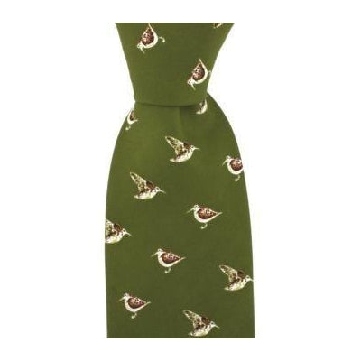 John Norris Woodcock Country Silk Tie