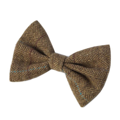 House of Paws Tweed Dog Bow Tie - Brown