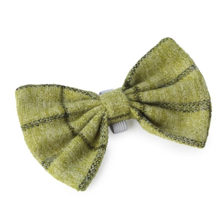House of Paws Tweed Dog Bow Tie - Green