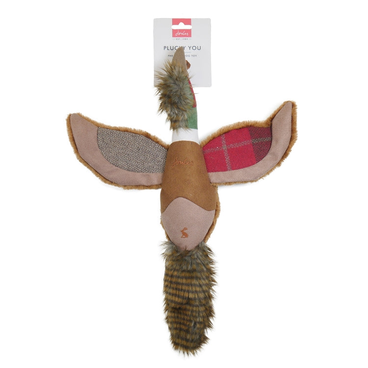 Joules Plush Tweed Pheasant Dog Toy