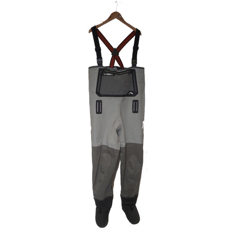 USED Simms G3 Guide Stockingfoot Waders Cinder Medium King Short Factory Repaired (No Warranty) (471)