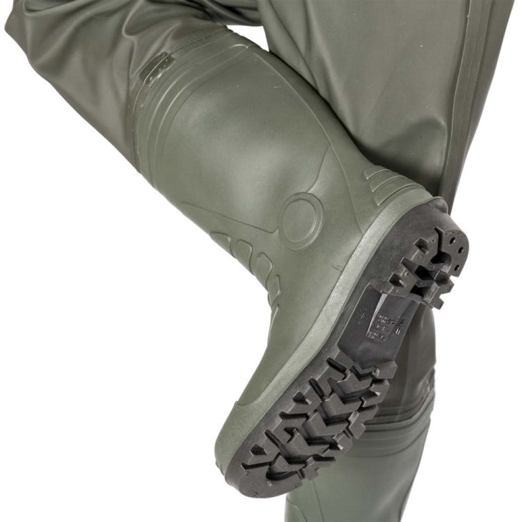 Snowbee Granite PVC Chest Waders - Olive Green