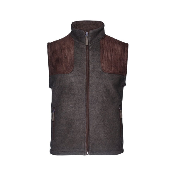 Seeland William II Fleece Waistcoat - Moose Brown
