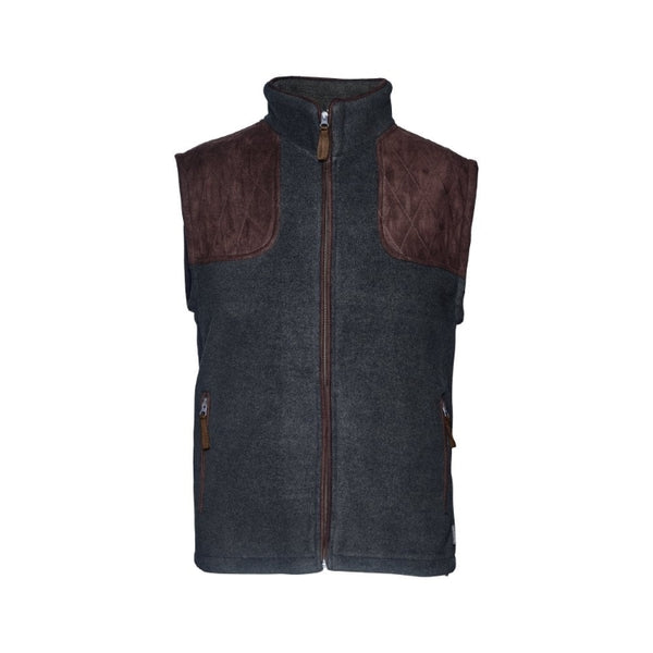 Seeland William II Fleece Waistcoat - Navy Blue
