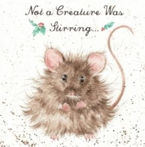 Wrendale Designs Not a Creature Was Stirring Christmas Card