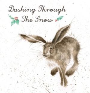 Wrendale Designs Dashing Through the Snow Christmas Card