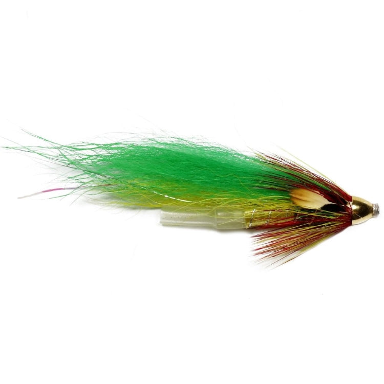 Green Highlander Plastic Tube Conehead Flies
