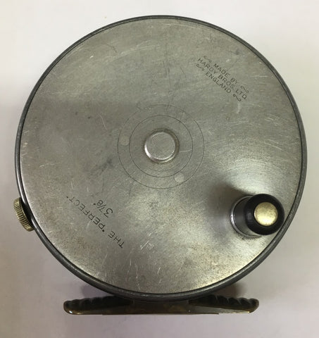 USED Hardy Perfect 3 7/8in Fly Reel Ribbed Brass Foot Dup MkII Check (028)
