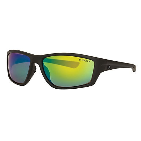 Greys G3 Sunglasses - Matt Carbon Frame Green Mirror Lens