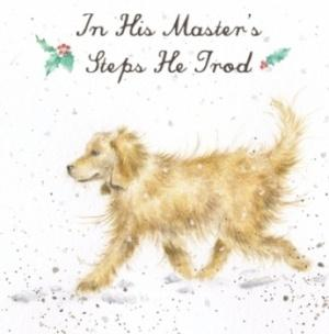 Wrendale Designs In His Masters Steps He Trod Christmas Card