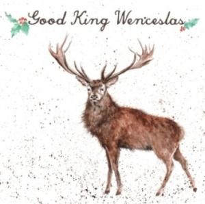 Wrendale Designs Good King Wenceslas Christmas Card