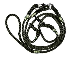 John Norris Gundog Brace Dog Lead - Black