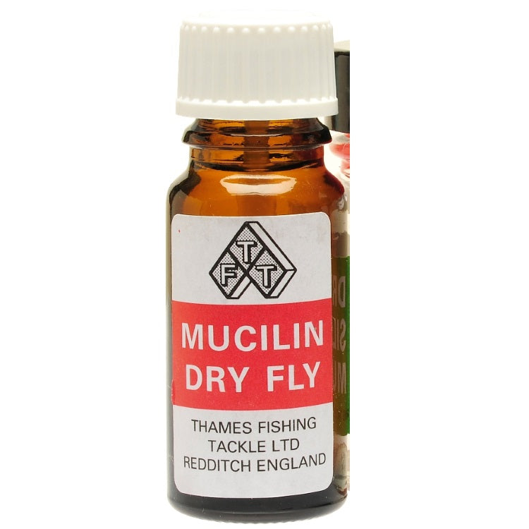 Mucilin Red Liquid Bottle and Brush