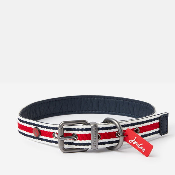 Joules Coastal Dog Collar - Red Stripe