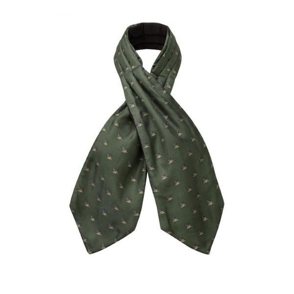 Schoffel Silk Shooting Cravat - Dark Olive