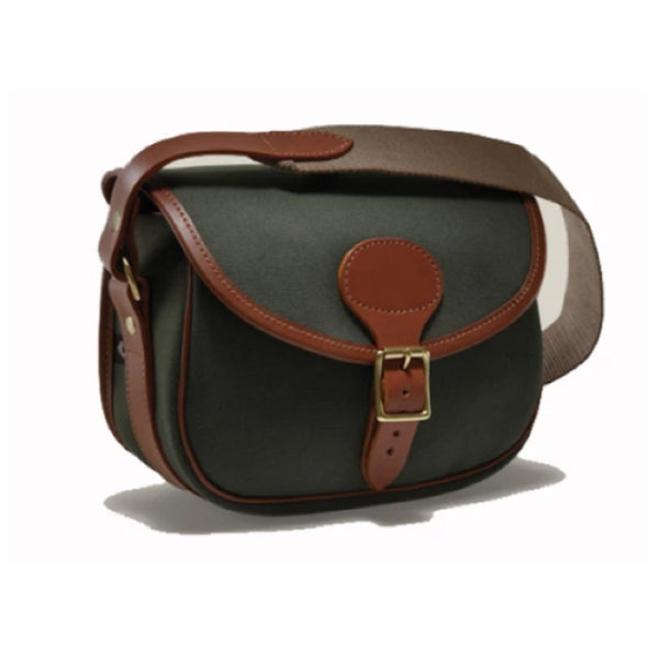 Croots Rosedale Cartridge Bag - Loden Green with Tan Leather trim