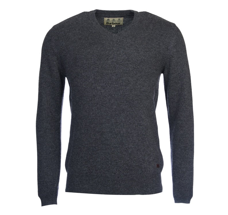 Barbour Nelson Essential V Neck Sweater - Charcoal