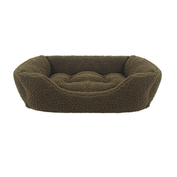 Rosewood Green Pile Fleece Dog Bed