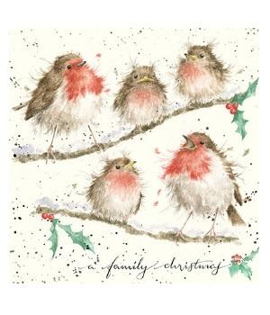 Wrendale Designs Christmas Card Family Christmas