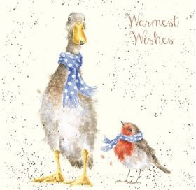 Wrendale Designs Christmas Scarves Christmas Card