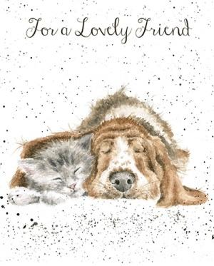 Wrendale Designs Dog and Cat Nap Card
