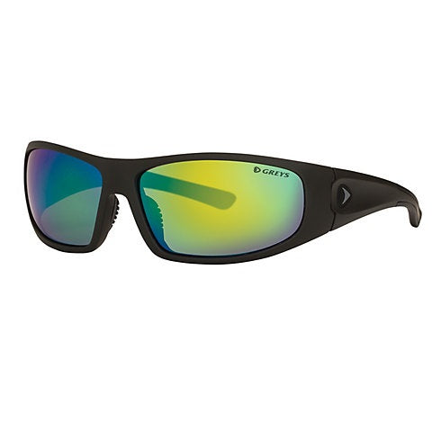 Greys G1 Sunglasses - Matt Carbon Frame Green Mirror Lens
